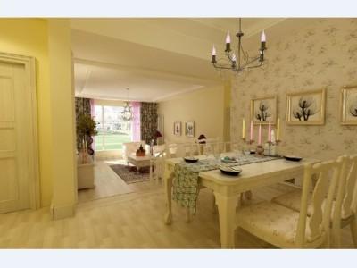 田园风格-110平米二居室装修设计