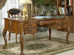 美式实木高档书桌椅|办公桌椅组合配套特价 批发 米高家具