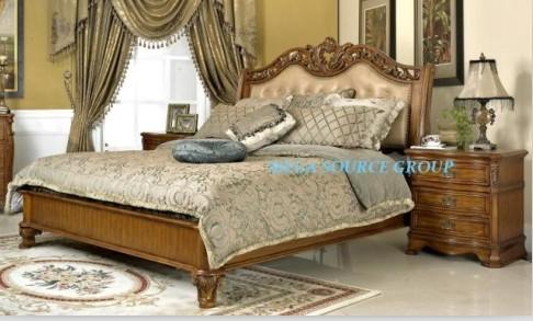 美式高档镂花床|实木双人床#22 特价 别墅家具 米高家具