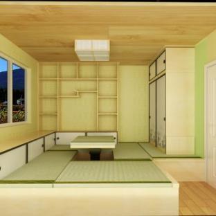 日韩风格一居室装修效果图