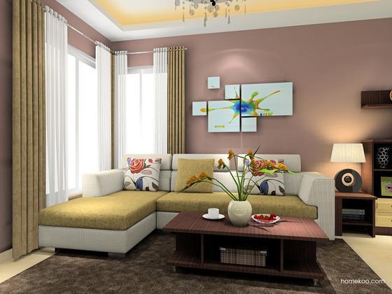 尚品宅配 欧美风格 客厅家具 沙发吧台电视柜