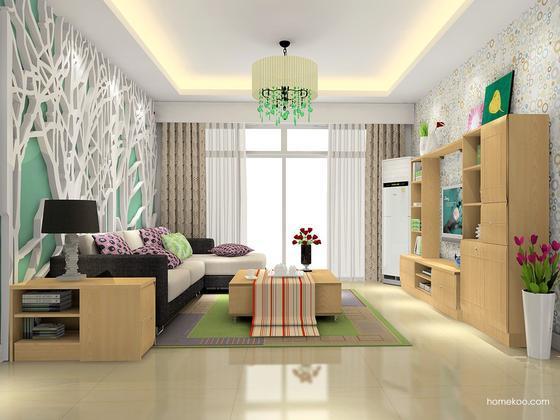尚品宅配 定制客厅家具D15490 免费量尺设计出效果图
