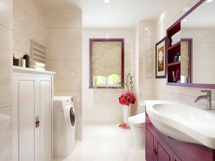 中式古典一居室卫生间楼梯装修效果图欣赏