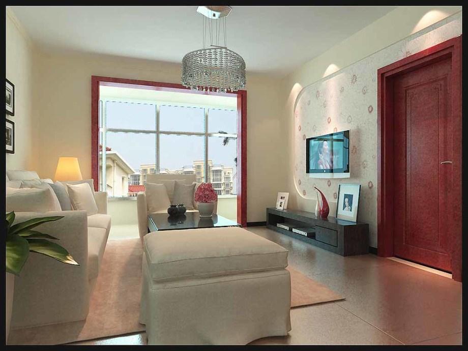 园 现代简约 94平米三居室装修图片高清图片