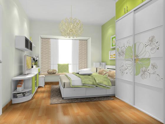 尚品宅配 卧室环保家具定制 17件套 周迅代言 E1级板材