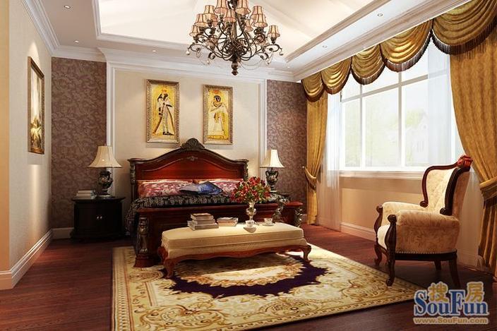 西式古典138平米三居室装修效果图高清图片