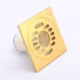 厂家直销:潜水挺防臭地漏JTF50-10X洗衣机专用铜镀钛金