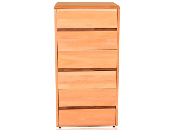 青岛一木纯实木02六斗柜榉木抽柜六层储物柜收纳柜地柜正品包邮