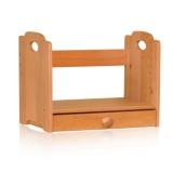 青岛一木家具纯实木书架榉木书架置物架格架简易书架抽屉正品包邮图片