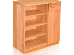 青岛一木家具榉木纯实木鞋柜03玄关鞋柜简约组合鞋柜架正品