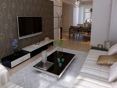 现代简约-100平米一居室装修样板间