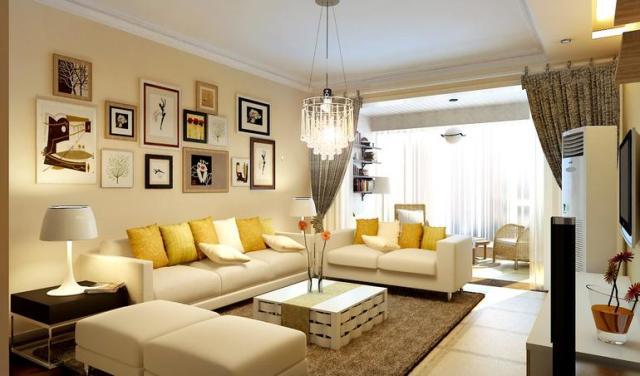 二居室客厅装修效果图大全-室内设计师胡珊设计作品
