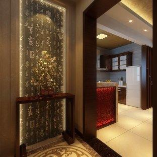 中式古典别墅别墅装修效果图别墅玄关即墨|大全二手房即墨图片