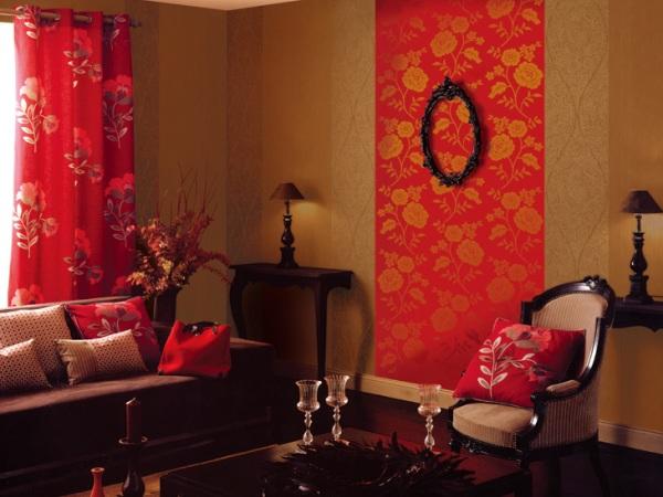 玉兰壁纸 布朗彩15.9平米电视背景墙无纺纸墙纸