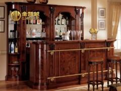 金凯越酒柜 家具定制 实木玻璃装饰柜 陈设柜 酒柜 餐边柜