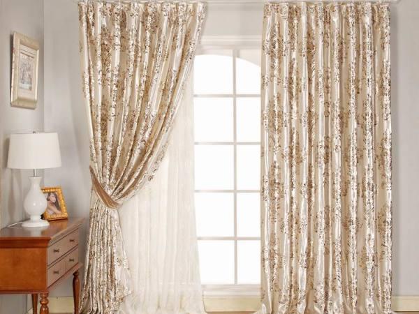 意萨立德 锦绒8508-H-白色 欧式窗帘