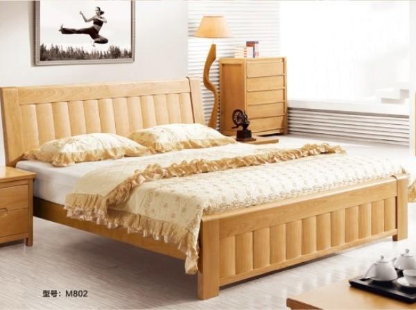 联乐实木床 桦木 M802