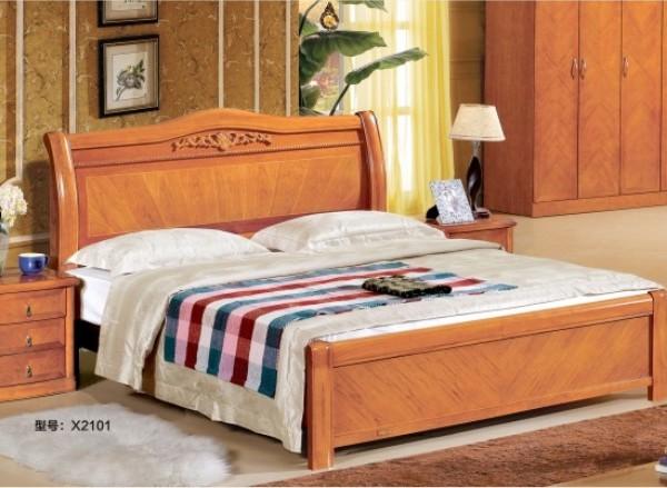 联乐木床架X2101
