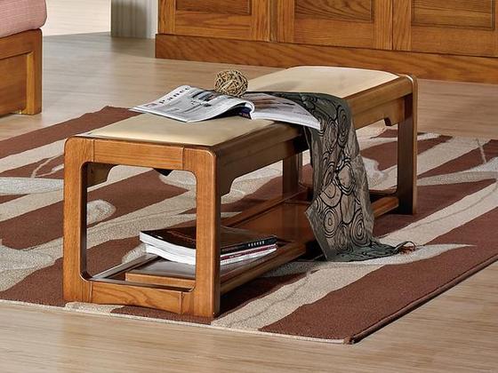 光明家具福橡金缘系列床尾凳118-13102-150