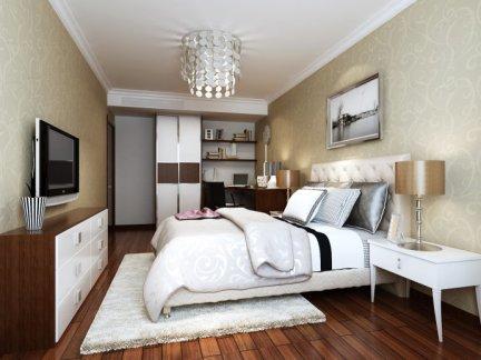 欧美风情-112平米三居室装修样板间