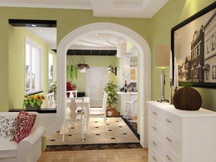 田园风格-192平米二居室装修样板间