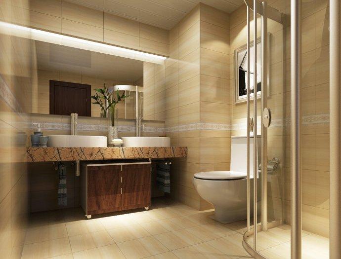欧美风情-112平米三居室-装修样板间