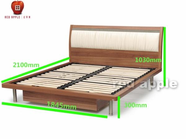红苹果 简洁大方卧室排骨架1.8M床