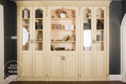 玛格定制家具 美式实木书柜