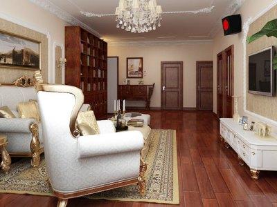 中式古典-157平米三居室装修样板间