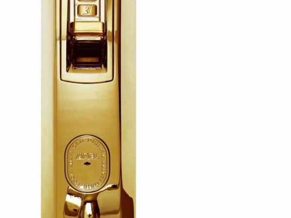 爱迪尔美8亮金指纹锁。