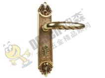 迪森五金纯铜欧式锁具锁芯家用室内标准机械房门锁面板锁直销图片