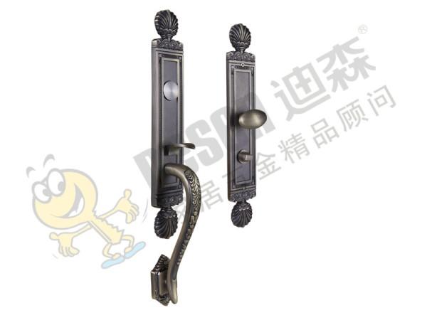 迪森 特价欧式锌合金机械别墅大门锁 执手双舌弹子插芯锁具锁芯