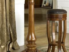 美式实木圆吧桌 吧台吧凳组合#28 外单特价 别墅家具