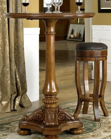 美式实木圆吧桌|吧台吧凳组合#28 外单特价 别墅家具