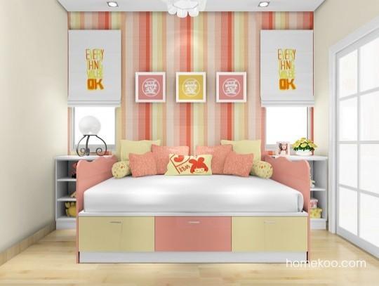 尚品宅配 女孩儿童房定制B17606 定做环保儿童房