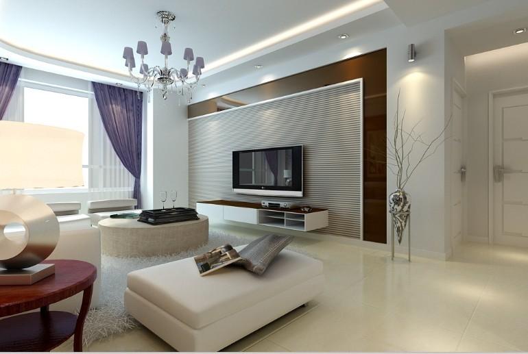 绿厦爵士汇-现代简约-102平米二居室装修图片
