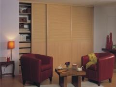 索菲亚C8框枫木平板经典百叶衣柜(衣柜、百叶系列、美式)