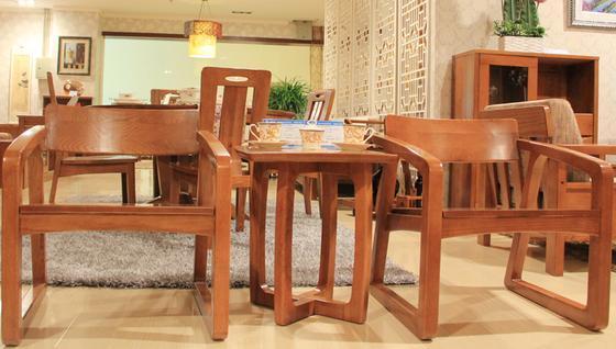光明家具福橡金缘系列休闲桌椅