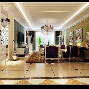 欧式豪华三居室装修效果图