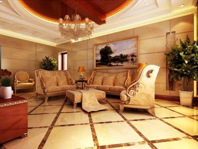欧美风情-120平米三居室装修样板间