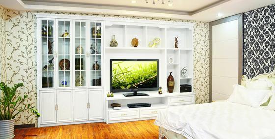 拉迷白浮雕电视柜