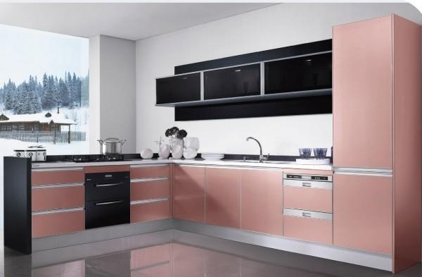 欧派整体橱柜定制定做 L形现代厨柜厨房订做 印象・朝霞 定金