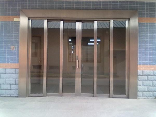 不锈钢手动推拉门、吊门、趟门制作安装