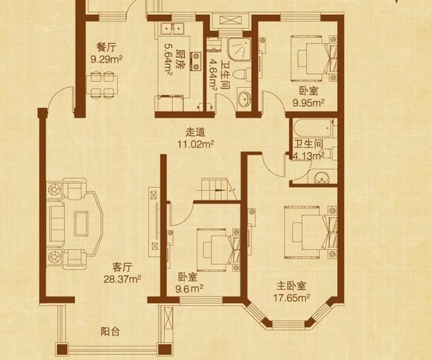 东南亚风格-189平米复式-装修样板间