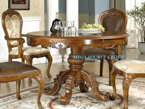 高档实木餐桌餐椅组合配套|圆餐桌椅#2G 特价 米高家具