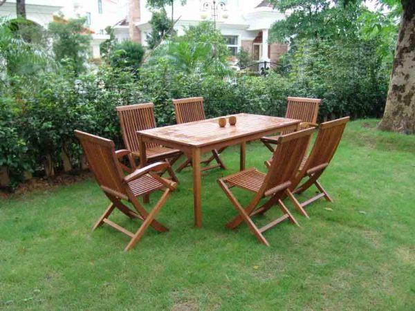 户外家具实木桌椅003型号