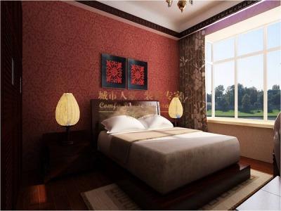 新中式-130平米三居室装修样板间