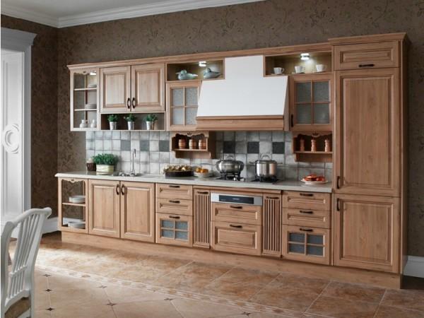 【欧派橱柜】耶莲娜 一字形简约现代时尚厨柜厨房 定制定做