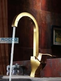 香港ROCCO洛克专柜正品全铜镀金色厨房龙头6013