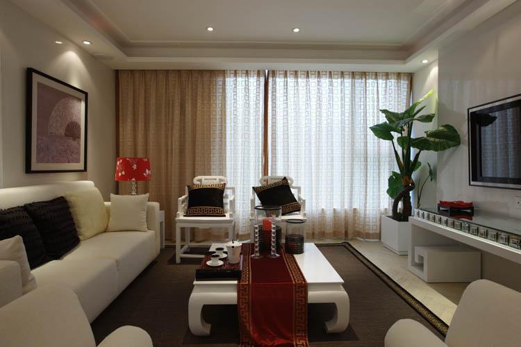 二居室-80平米-客厅装修效果图  高清图片